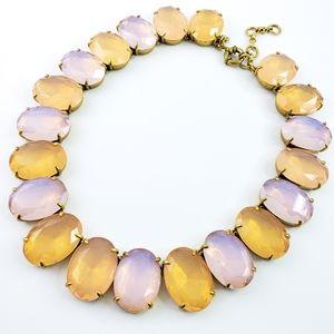 J. Crew Statement Necklace Blush + Pink Ovals